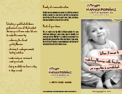 Nanny Poppinz Agency Official Brochure